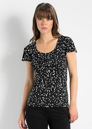 falleri volanterie shirt, sparkling speckle, Shirts, Schwarz
