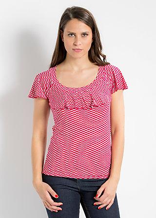 falleri volanterie shirt, witty eternity, Kurzarm, Rot