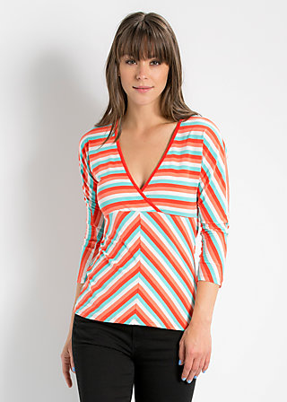 heart on fire longshirt, sunset stripes, Langarm, Rot