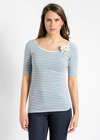 high end lure tee, blue sky stripes, Shirts, Blau
