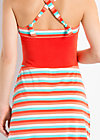 jungle ringle reih dress, sunset stripes, Kleider, Rot