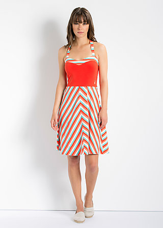 jungle ringle reih dress, sunset stripes, Jerseykleider, Rot