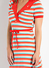 love and tenderness dress, sunset stripes, Kleider, Rot