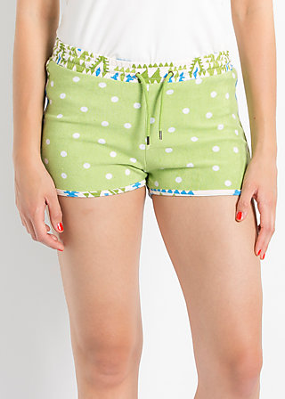 marlene lovepants, morning dew drops, Shorts, Grün