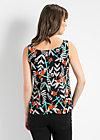 rückenfein top, lure of the tropics, Shirts, Schwarz