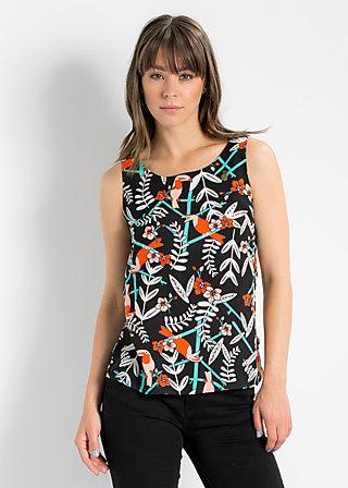 rückenfein top, lure of the tropics, Shirt, Schwarz