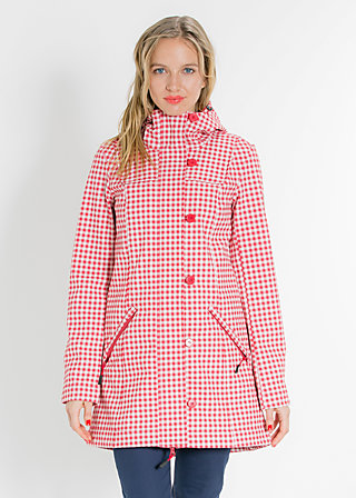 wild weather long anorak, city chic check, Jacken, Rot