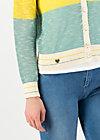 avec plaisir cardy, sporty blue yellow, Pullover & leichte Jacken, Türkis