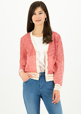 avec plaisir cardy, sporty red white, Pullover & leichte Jacken, Rot