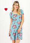 belle de jours petit robe, les roses, Kleider, Blau