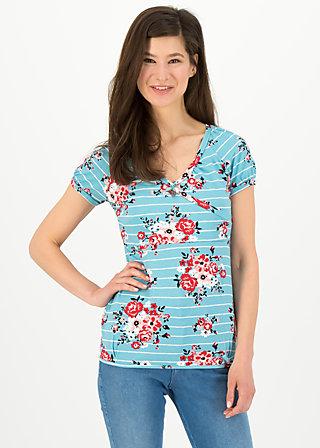 cache coeur romance tee, les roses, Shirts, Blau