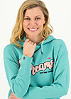 Hoodie dreams are my reality, aqua blue, Pullover & Sweatshirts, Türkis