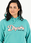 dreams are my reality sweat, aqua blue, Pullover & leichte Jacken, Türkis