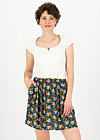 flirty flatter skirt, love in the idleness, Röcke, Blau