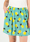 Mini Skirt flirty flatter, pineapple party, Skirts, Turquoise