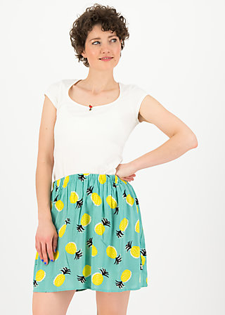 flirty flatter skirt, pineapple party, Röcke, Türkis