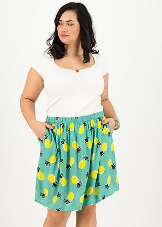 flirty flatter skirt, pineapple party, Skirts, Turquoise