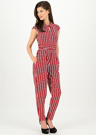Jumpsuit jour et nuit, les stripes, Trousers, Red