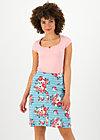 la vie est belle jupe, les roses, Skirts, Blue