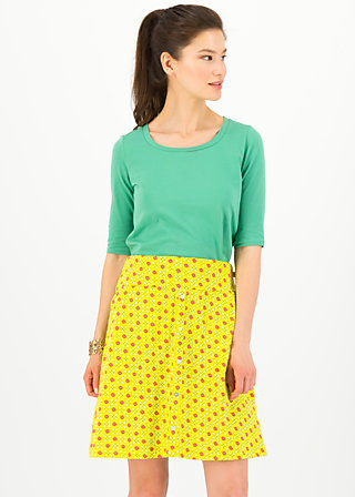 la vie est belle jupe, promenade walk, Skirts, Yellow