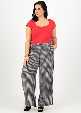 Summer Pants lady flatterby, café paris, Trousers, Black