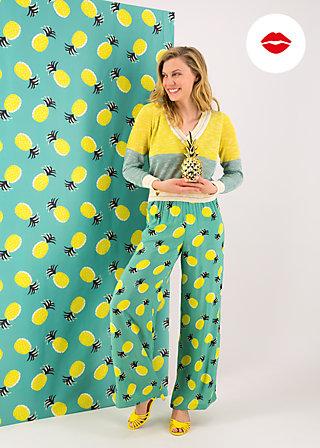 lady flatterby pants, pineapple party, Hosen, Türkis
