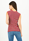 merci cherie top, les stripes, Shirts, Red