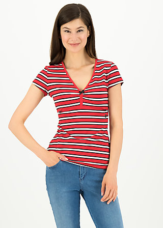 mon coeur, les stripes, Shirts, Red