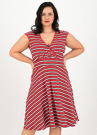 ohlala tralala robe, les stripes, Kleider, Rot