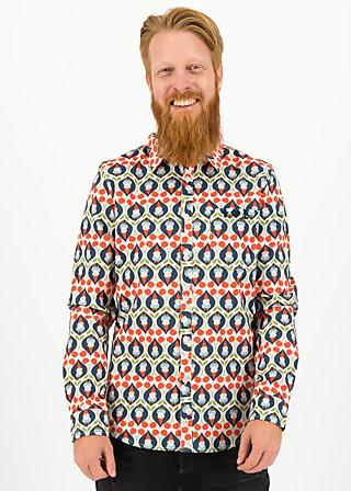 Men's Shirt pflück dein glück, lovely lido, Blutsbruder, White