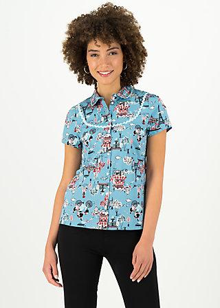 poupette blusette, ohlala paris, Blusen & Tuniken, Blau