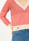 savoir vivre pull over, sporty red white, Pullover & leichte Jacken, Rot