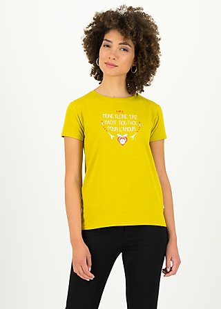 tic tac tee, simply yellow, Shirts, Yellow