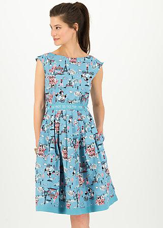 tres chic chansonette robe, ohlala paris, Dresses, Blue