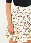 A-line Skirt vive l'amour, first kiss, Skirts, Fawn
