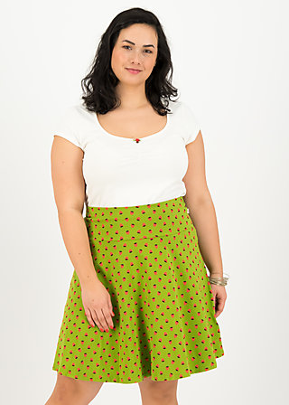 vive l'amour skirt, strawberry soucre, Skirts, Green