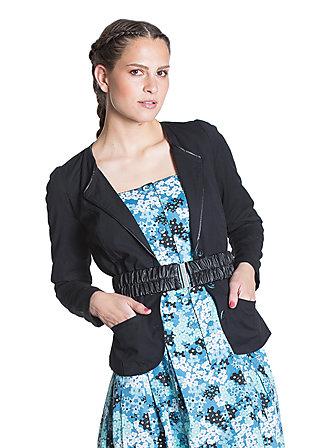 kurperle jacket, yang black, Schwarz
