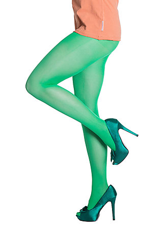 mild tights, pure green stretch, Leggings, Green