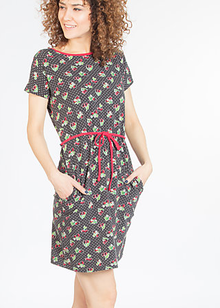 eternal ease dress, charlets cherries, Jersey Dresses, Schwarz