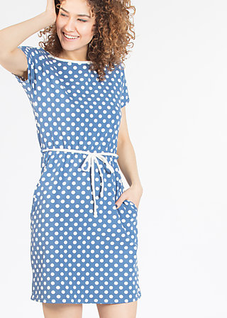 eternal ease dress, snowwhite dots, Jerseykleider, Blau