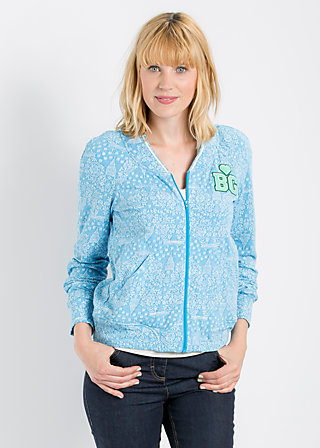 base ballerina zip, blue sky manhattan, Cardigans, Blau