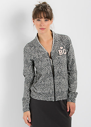 base ballerina zip, manhattan night stroll, Cardigans, Schwarz