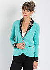 empire state blazy, curacao cup cake, Cardigans, Blau