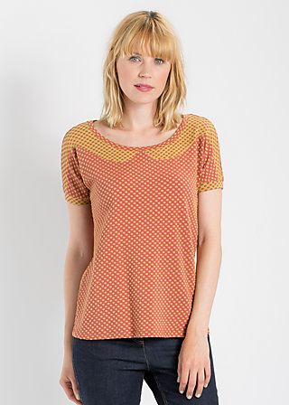 fantastic frock tee, copper coin dots, Kurzarm, Rot