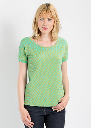 fantastic frock tee, green liberty dots, Shirts, Grün