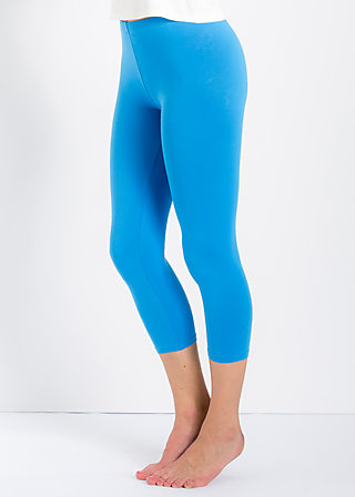 logo 3/4 leggings, fountain blue, Leggings, Blau