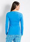 logo longsleeve v-shirt, fountain blue, Shirts, Blau