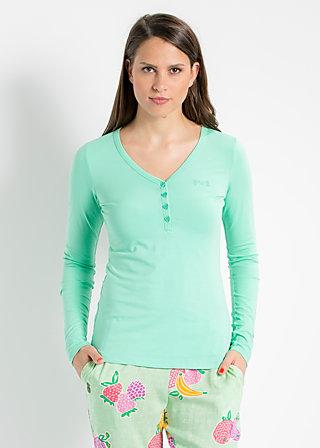 logo longsleeve v-shirt, liberty green, Shirts, Grün