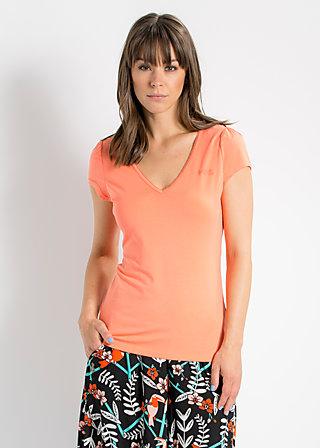 logo shortsleeve v-shirt, coral beach, Shirts, Rot