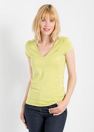 logo shortsleeve v-shirt, sweet pineapple, Shirt, Grün